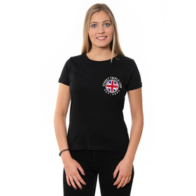 T- Cup U-Neck T-Shirt LADIES, schwarz