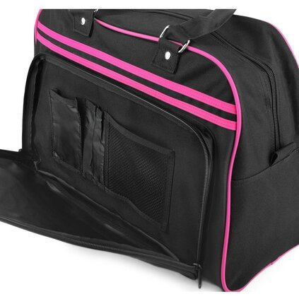 Classic Bag Black / Racefoxx.com Logo Hot Pink