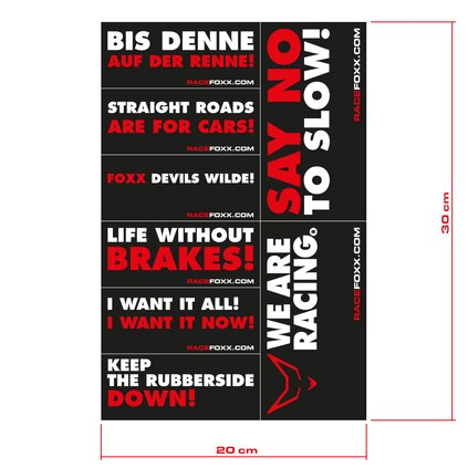 Motorbike or Car Decals, 2 Sheets