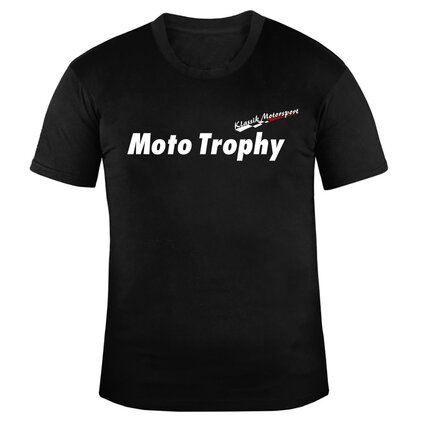 Klassik Motorsport U-Neck T-Shirt MEN, schwarz