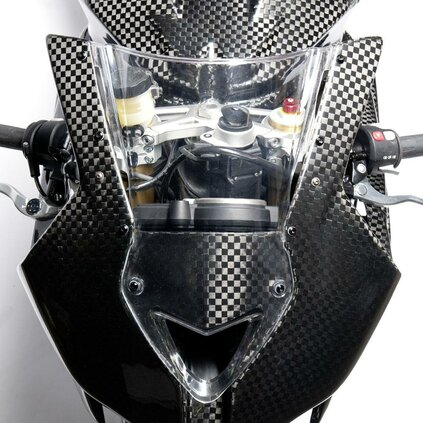 BMW S1000 RR Bubble Windshield, Clear, 09>>14