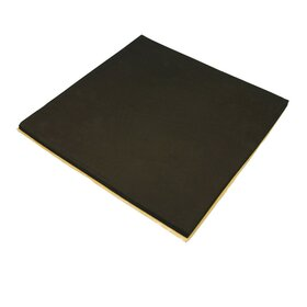 Seatpad, sponge rubber, self-adhesive, 15 mm, 390 x 490 mm