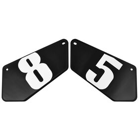 Yamaha XSR900 Starting Number Plates with Decals