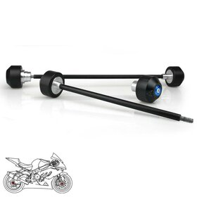 BMW S1000R/RR Axle and Swingarm Protection Set, blue
