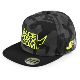 Jan # 44 Cap, camouflage, embroidery neon yellow