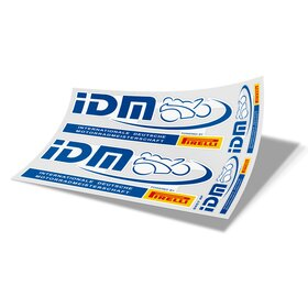 IDM Decal Sheet white