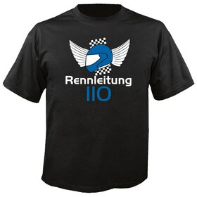 Rennleitung 110 U-Neck T-Shirt MEN, black, big logo