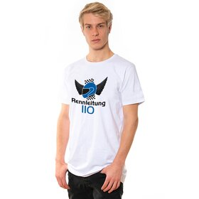 Rennleitung 110 U-Neck T-Shirt MEN, white, big logo