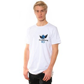 Rennleitung 110 U-Neck T-Shirt MEN, white, small logo