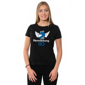 Rennleitung 110 U-Neck T-Shirt LADIES, black, big logo