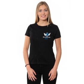 Rennleitung 110 U-Neck T-Shirt LADIES, black, small logo