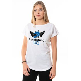 Rennleitung 110 U-Neck T-Shirt LADIES, white, big logo