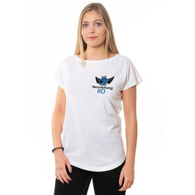 Rennleitung 110 U-Neck T-Shirt LADIES, white, small logo