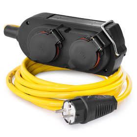 RACEFOXX Extension Cable Armored with 4-Way Socket