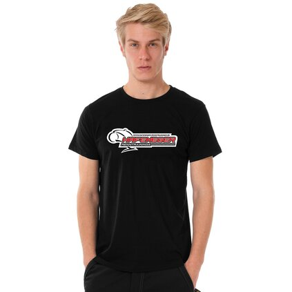 Hafeneger U-Neck T-Shirt MEN, black, classic logo