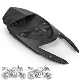 BMW S1000R/RR Carbon-Fibre Lower Tail Panel, matt