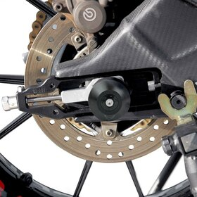 BMW S1000R / RR axle and swingarm protection set, black