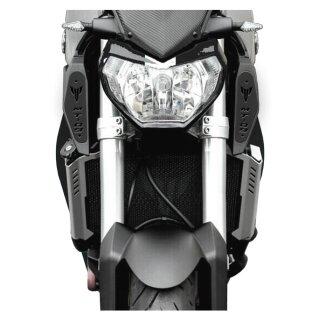 Yamaha MT 09 RAM AIR Abdeckungen Schwarz Logo Schriftzug EUR 24