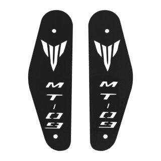 Yamaha MT 09 RAM AIR Abdeckungen Schwarz Logo Schriftzug