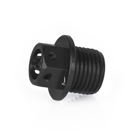Oil plug with magnet, black