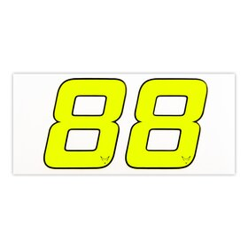 race number sticker set of 2, neon yellow, 1mm foam...
