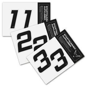 race number sticker set of 2, black, # 3