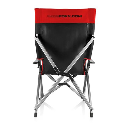 Outdoor chair, black/red, printing optional!
