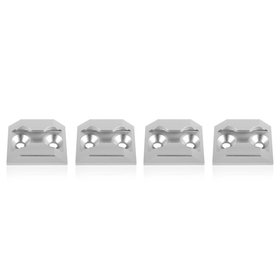 Anker Points for Airline Eyelets, square, silver, set of 4