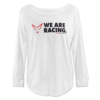 Ladies Long Sleeve, weiß, We are Racing!