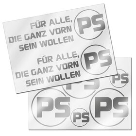 PS Decal sheet silver