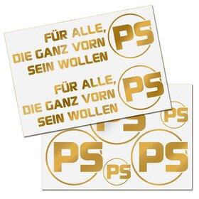 PS Decal sheet gold