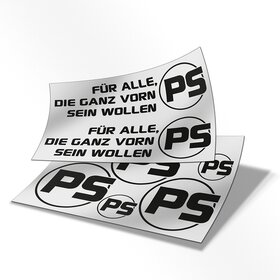 PS Decal sheet black