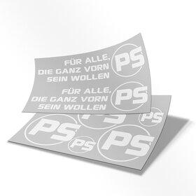 PS Decal sheet white