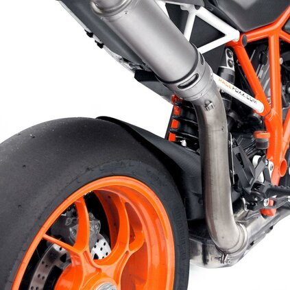RACEFOXX High Up Exhaust Tube for KTM 1290, Stainless Steel