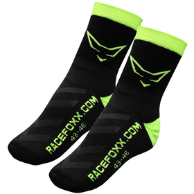 RACEFOXX Motorbike Socks with CoolPlus, black/yellow,...