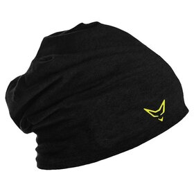 Beanie black / neon yellow